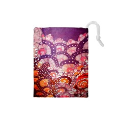 Colorful Art Traditional Batik Pattern Drawstring Pouches (small)