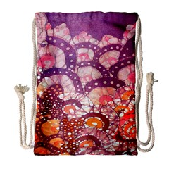 Colorful Art Traditional Batik Pattern Drawstring Bag (large)