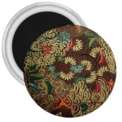 Colorful The Beautiful Of Art Indonesian Batik Pattern 3  Magnets