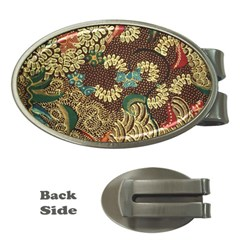 Colorful The Beautiful Of Art Indonesian Batik Pattern Money Clips (oval)