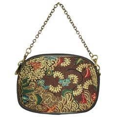 Colorful The Beautiful Of Art Indonesian Batik Pattern Chain Purses (one Side)