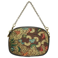 Colorful The Beautiful Of Art Indonesian Batik Pattern Chain Purses (two Sides)
