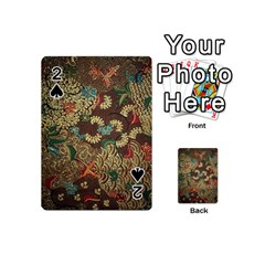Colorful The Beautiful Of Art Indonesian Batik Pattern Playing Cards 54 (mini)
