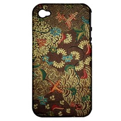 Colorful The Beautiful Of Art Indonesian Batik Pattern Apple Iphone 4/4s Hardshell Case (pc+silicone)