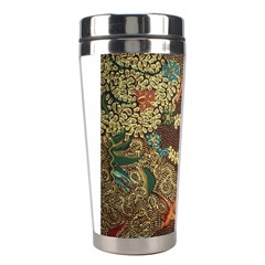 Colorful The Beautiful Of Art Indonesian Batik Pattern Stainless Steel Travel Tumblers