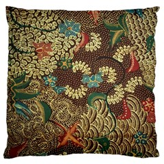 Colorful The Beautiful Of Art Indonesian Batik Pattern Standard Flano Cushion Case (two Sides)
