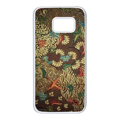 Colorful The Beautiful Of Art Indonesian Batik Pattern Samsung Galaxy S7 White Seamless Case