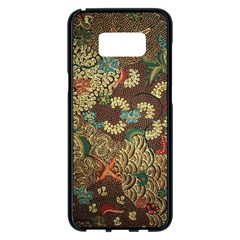 Colorful The Beautiful Of Art Indonesian Batik Pattern Samsung Galaxy S8 Plus Black Seamless Case