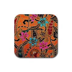 Colorful The Beautiful Of Art Indonesian Batik Pattern(1) Rubber Coaster (square)
