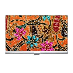 Colorful The Beautiful Of Art Indonesian Batik Pattern(1) Business Card Holders