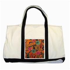 Colorful The Beautiful Of Art Indonesian Batik Pattern(1) Two Tone Tote Bag