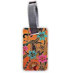 Colorful The Beautiful Of Art Indonesian Batik Pattern(1) Luggage Tags (one Side)