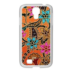 Colorful The Beautiful Of Art Indonesian Batik Pattern(1) Samsung Galaxy S4 I9500/ I9505 Case (white)