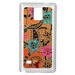 Colorful The Beautiful Of Art Indonesian Batik Pattern(1) Samsung Galaxy Note 4 Case (white)