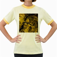 Colorful The Beautiful Of Traditional Art Indonesian Batik Pattern Women s Fitted Ringer T Shirts
