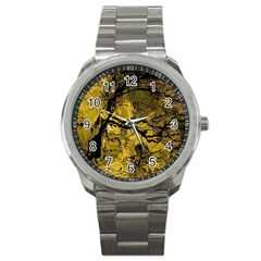 Colorful The Beautiful Of Traditional Art Indonesian Batik Pattern Sport Metal Watch