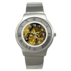 Colorful The Beautiful Of Traditional Art Indonesian Batik Pattern Stainless Steel Watch