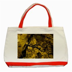 Colorful The Beautiful Of Traditional Art Indonesian Batik Pattern Classic Tote Bag (red)