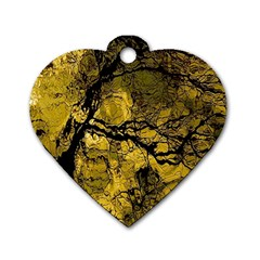 Colorful The Beautiful Of Traditional Art Indonesian Batik Pattern Dog Tag Heart (one Side)