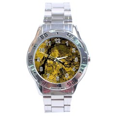Colorful The Beautiful Of Traditional Art Indonesian Batik Pattern Stainless Steel Analogue Watch