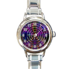 Color In The Round Round Italian Charm Watch