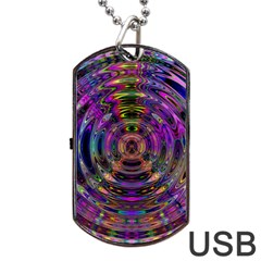 Color In The Round Dog Tag Usb Flash (two Sides)