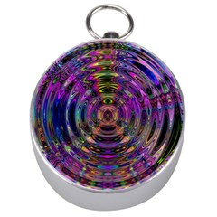 Color In The Round Silver Compasses
