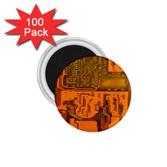 Circuit Board Pattern 1 75  Magnets (100 Pack)