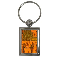 Circuit Board Pattern Key Chains (rectangle)