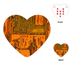 Circuit Board Pattern Playing Cards (heart)
