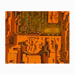 Circuit Board Pattern Small Glasses Cloth (2 Side)