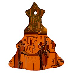 Circuit Board Pattern Ornament (christmas Tree)