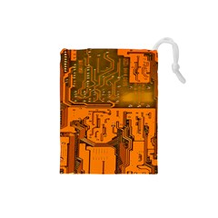 Circuit Board Pattern Drawstring Pouches (small)