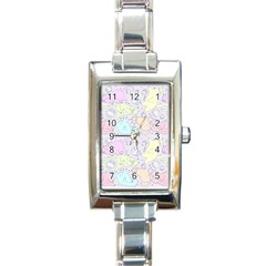 Cat Animal Pet Pattern Rectangle Italian Charm Watch