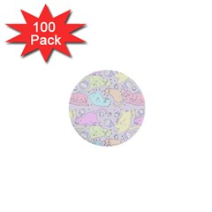 Cat Animal Pet Pattern 1  Mini Buttons (100 Pack)