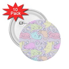 Cat Animal Pet Pattern 2 25  Buttons (10 Pack)