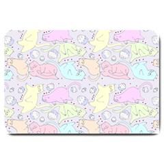 Cat Animal Pet Pattern Large Doormat