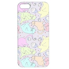 Cat Animal Pet Pattern Apple Iphone 5 Hardshell Case With Stand