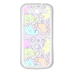 Cat Animal Pet Pattern Samsung Galaxy S3 Back Case (white)