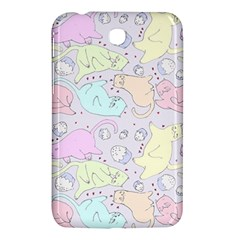 Cat Animal Pet Pattern Samsung Galaxy Tab 3 (7 ) P3200 Hardshell Case