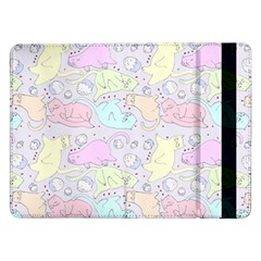 Cat Animal Pet Pattern Samsung Galaxy Tab Pro 12 2  Flip Case