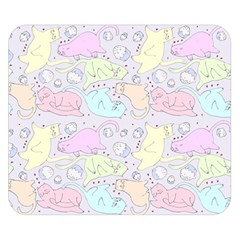 Cat Animal Pet Pattern Double Sided Flano Blanket (small)
