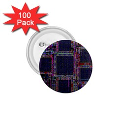 Cad Technology Circuit Board Layout Pattern 1 75  Buttons (100 Pack)