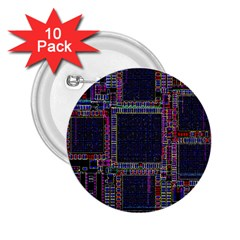 Cad Technology Circuit Board Layout Pattern 2 25  Buttons (10 Pack)