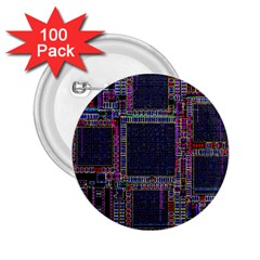 Cad Technology Circuit Board Layout Pattern 2 25  Buttons (100 Pack)