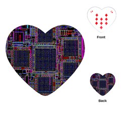 Cad Technology Circuit Board Layout Pattern Playing Cards (heart)