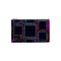 Cad Technology Circuit Board Layout Pattern Cosmetic Bag (small)