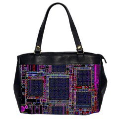 Cad Technology Circuit Board Layout Pattern Office Handbags (2 Sides)