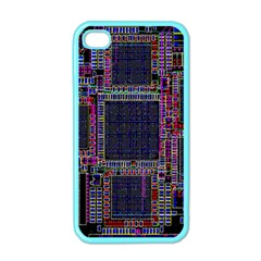 Cad Technology Circuit Board Layout Pattern Apple Iphone 4 Case (color)