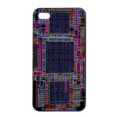 Cad Technology Circuit Board Layout Pattern Apple Iphone 4/4s Seamless Case (black)